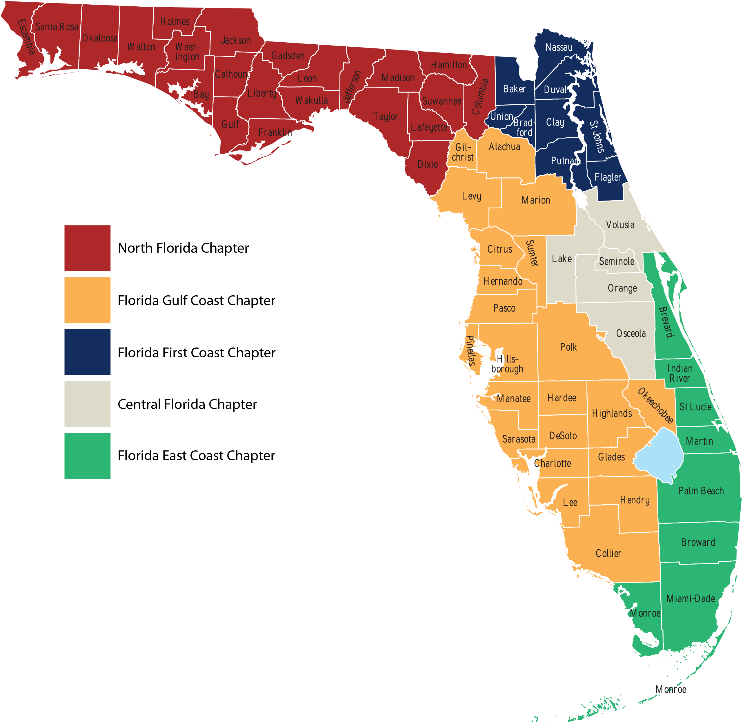 It is a graphic of Impertinent Florida County Map Printable