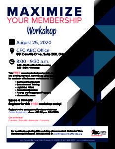 Maximize Your Membership Workshop @ CFC ABC Office