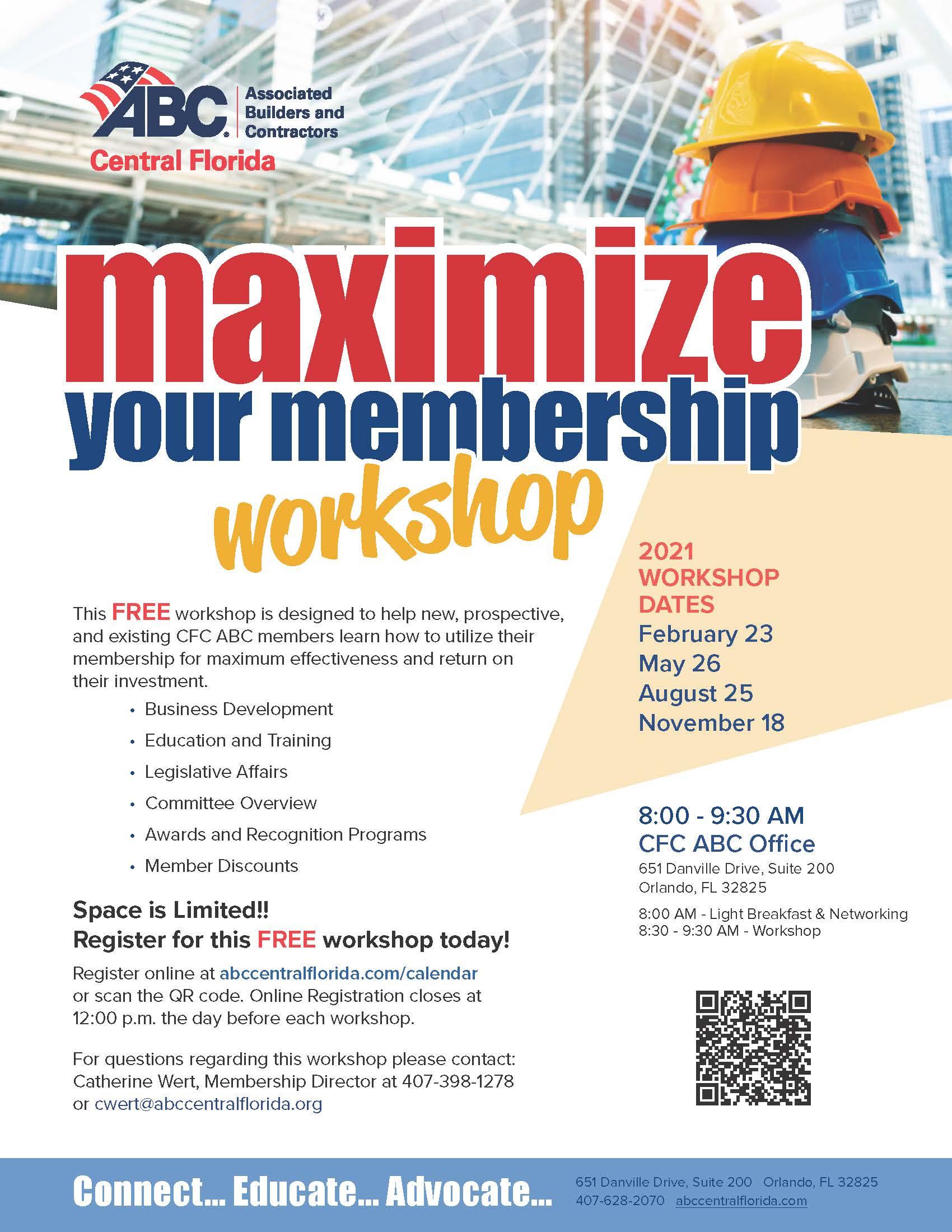 Maximize Your Membership Workshop